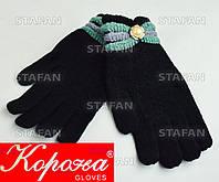 Шерстяные перчатки с начёсом на девочку Korona E5375-2-R