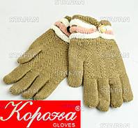Шерстяные перчатки с начёсом на девочку Korona E5375-3-R