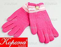 Шерстяные перчатки с начёсом на девочку Korona E5375-4-R