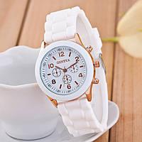 Женские наручные силиконовые часы Geneva white