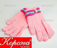 Шерстяные перчатки с начёсом на девочку Korona E5375-6-R