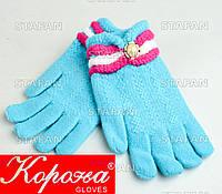 Шерстяные перчатки с начёсом на девочку Korona E5375-8-R