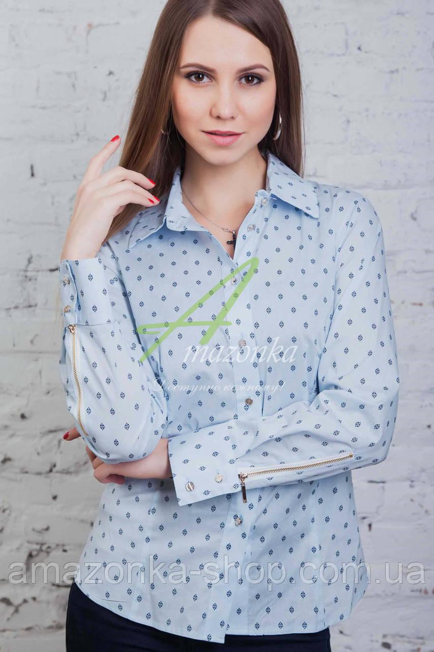Модная женская блузка-рубашка 2017 - (код бл-59)