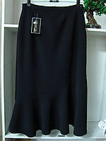 Женская длинная черная юбка волан, фото 1