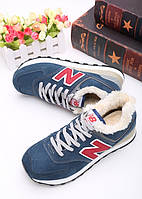 Кроссовки New Balance 574 Winter Blue/Red - 1380
