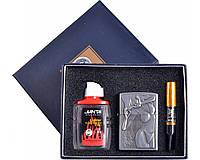 Подарочный набор 3в1 Зажигалка, бензин, мундштук №4718-2 SO