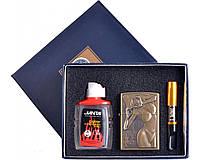 Подарочный набор 3в1 Зажигалка, бензин, мундштук №4718-3 SO