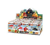 Конструктор Angry Birds 79249, мультфильм злые птицы,мини-фигурки, 16 штук в коробке. Собери коллекцию