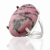 Родонит орлец, серебро 925, кольцо, 115КР