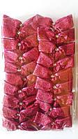 Банты блестящие однотонные узкие для новогодней елки (упаковка 20 шт, цвета в ассортименте)