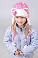 Красивая зимняя  шапка для  девочки 01125