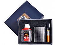Подарочный набор 3в1 Зажигалка, бензин, мундштук №4719-3 SO