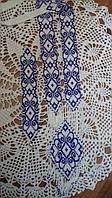 Синьо білий гердан + браслет( Сине белый гердан + браслет) ANa-0036
