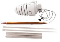 Термостатическая головка для теплых полов с накладным датчиком HERZ 20-50°