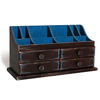 Большая деревянная шкатулка комодик для украшений, бижутерии, косметики, рукоделия на 14 отделений