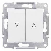 Механизм управления жалюзи 2-клавишного с мех. блок. Белый Schneider Electric Sedna