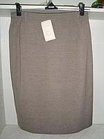 Бежевая классическая женская юбка маленького размера, фото 1