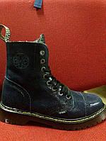 Ботинки кожа113/AL/D-71/OCW (овчина, вовна, зима) 2016-2017, Winter. Blue Original. Черевики. Шкіра.