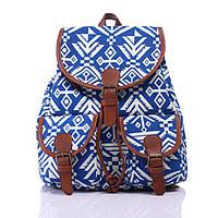 Рюкзак женский городской Хиппи Alasca blue-white (сине-белый)