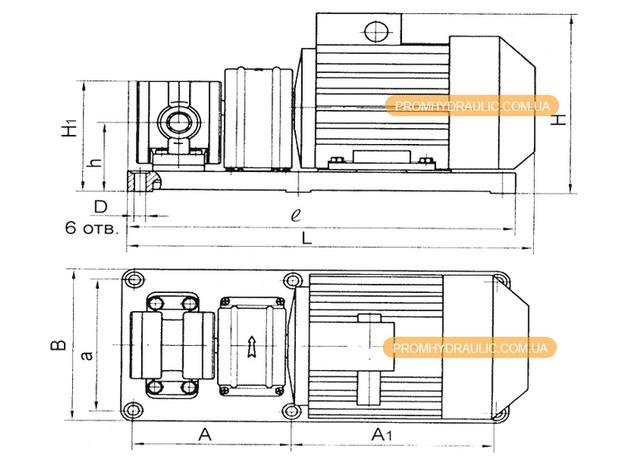 Насос бг11-22а Габаритные и присоединительные размеры - фото 2