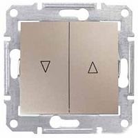 Механизм управления жалюзи 2-клавишного с эл. Блок титан Schneider Electric Sedna