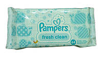 "Салфетки влажные ""Pampers"" 64 шт. Fresh clean"