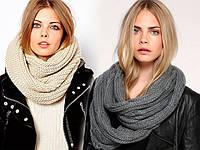 Теплые шарфы снуды для зимних холодов