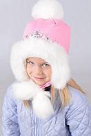 Теплая шапка для  девочки 5125