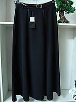 Женская длинная черная юбка большого размера, фото 1