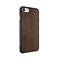 Тонкая накладка с отделкой под дерево, Ozaki O!coat 0.3+Wood Case для iPhone 7 - темно коричневая (OC736EB)
