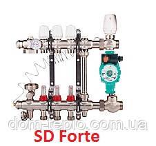 Коллектор латунный для теплого пола SD Forte 2 вых.