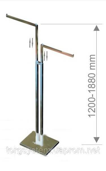 Вешалка напольная прямая с регулировкой высоты