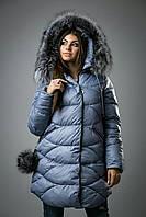 Зимняя курточка женская удлинённая CHANEVIA