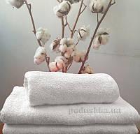 Полотенце махровое без бордюра 380 г Nostra белое 100х150 см