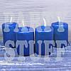Парафиновые свечи темно-синие 4х5,5 см, 4 шт