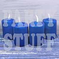 Парафиновые свечи темно-синие 4х5,5 см, 4 шт, фото 1