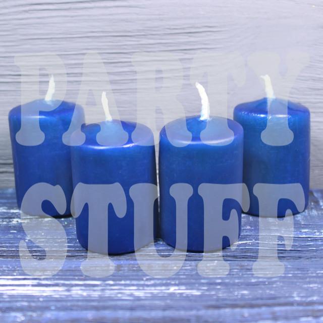 свечи декоративные темно-синие
