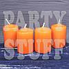 Свечи праздничные оранжевые 4х5,5 см, 4 шт