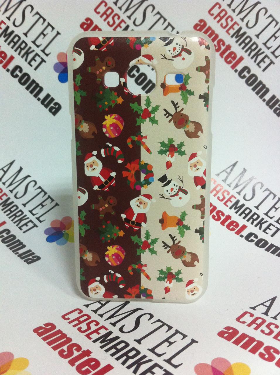 Силиконовый чехол для Samsung Galaxy J3 J300 с картинкой Рождество