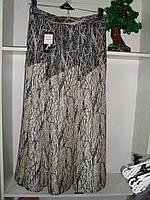 Женская юбка годе бежевого цвета длинная большого размера