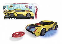 """Автомобиль """"Трансформер. Бамблби"""" с функ. стрельбы мини-дисками, звук. и свет. эффектами, 20 см, 3+"""