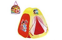 Палатка 813S Дора, сумка-переноска с ручкой 30*30см, один вход, москитная сетка, липучка
