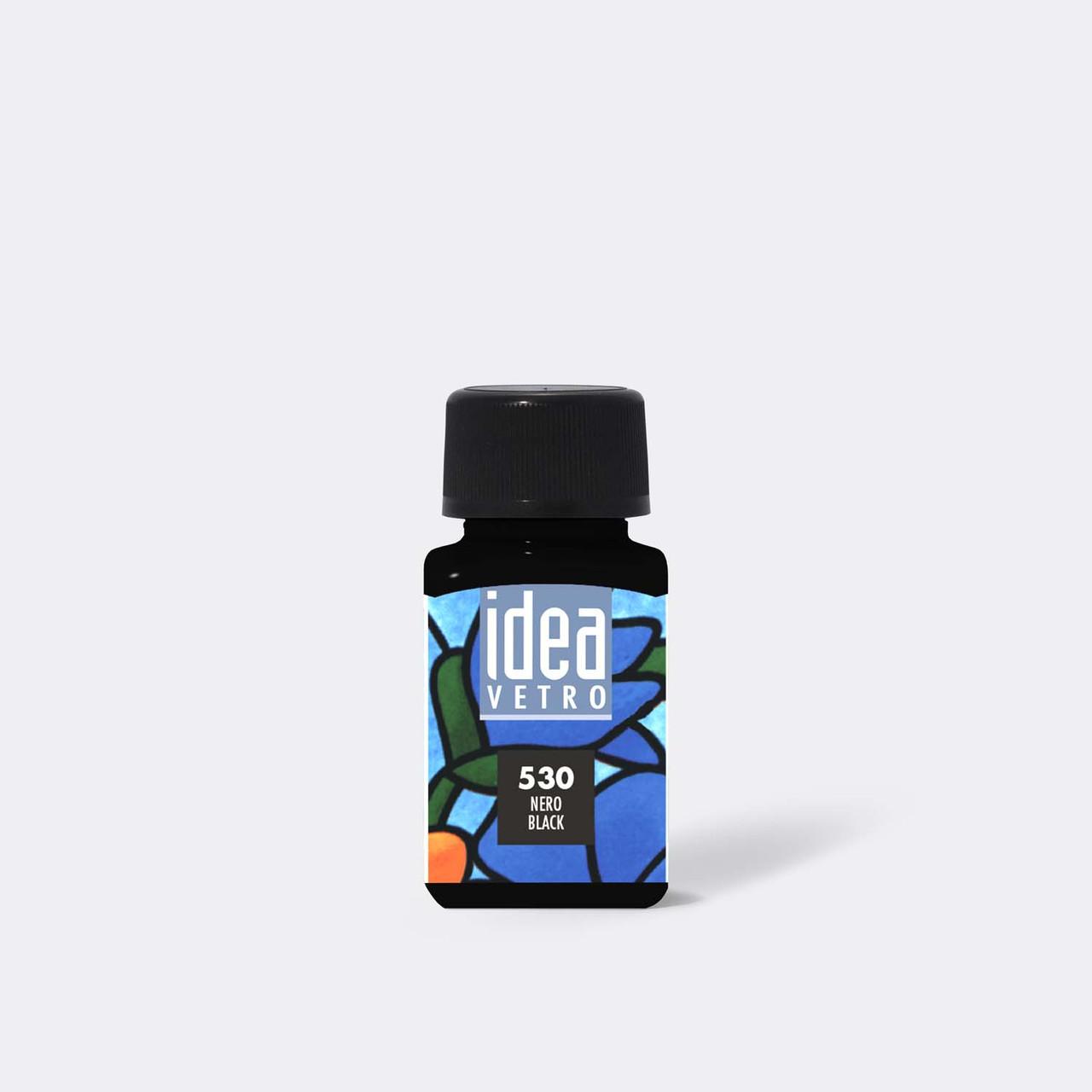 Витражная краска Идея Ветро Idea Vetro 530 черный (60 мл),Maimeri,Италия.