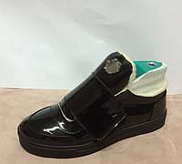 Слипоны-ботинки женские зимние лаковая кожа ALLURE AL0048