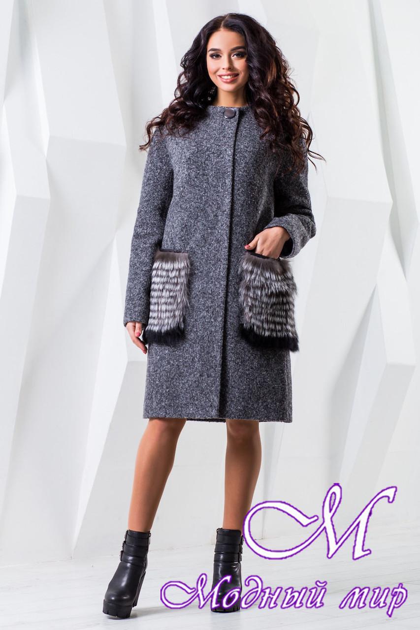 Женское зимнее пальто большого размера (р. 44-60) арт. 966 Тон 13