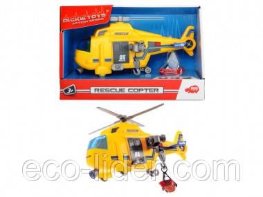 """Функціональний вертоліт """"Рятувальна служба"""" з лебідкою, звук. і світло. ефектами, 18 см, 3+"""