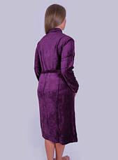 Велюровый халат женский Большой узор, фото 3
