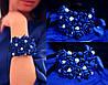 """Красивый браслет на руку с цветами """"Синий жасмин"""""""