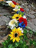 Гірлянда в українському стилі з штучних квітів, фото 6