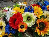 Гірлянда в українському стилі з штучних квітів, фото 5